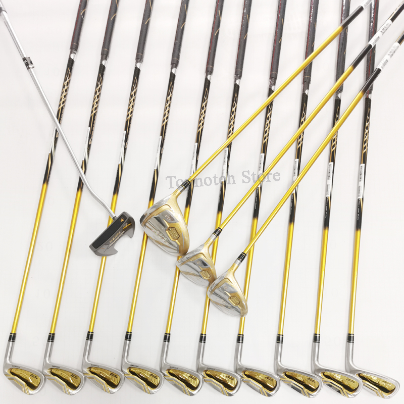 New Men Golf Clubs Full Set Driver Fairway Irons Putter Complete Carbon or Steel Shaft Set No Bag Free Shipping 3