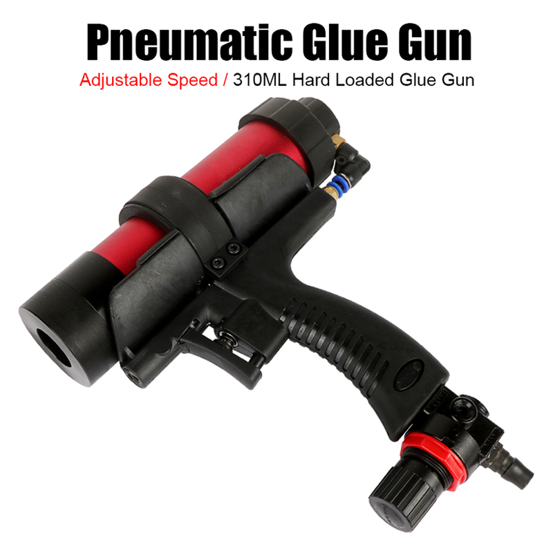 Tungfull Glass Rubber Grout Construction Tools Pneumatic Sealant Guns 310ml Air Guns Valve Silicone Sausages Caulking Tool Caulk
