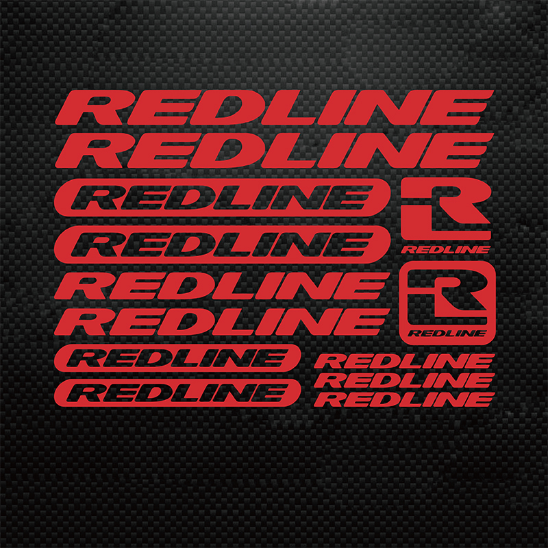 Modern For Redline  Bicycle Frame Stickers  Road bike Mountain Bike MTB DH XC Cycling Rack Decal Vinyl Sticker Racing Bike