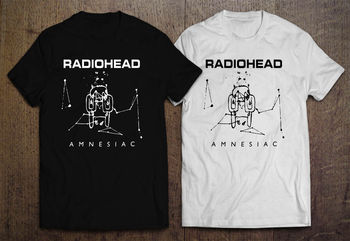 Radiohead Amnesiac Ok Computer Men'S Black White T Shirt Cool Casual Pride T Shirt Men Unisex 032367