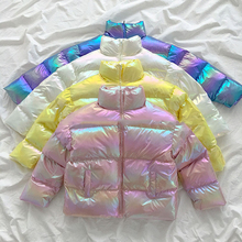 2020 Cotton Women's Glossy Winter Jacket Warm Down Parkas Golssy Jacket For Wome