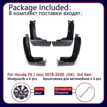 Брызговики для Honda Fit Jazz GK 2018 2019 2020 Брызговики для автомобиля крыло переднее заднее 3 поколения