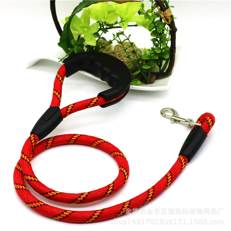 Pet Supplies Dog Traction Rope Nylon Dog Chain Dog Pulling Rope Foam Handle Round Belt Pull Chest Neck Ring