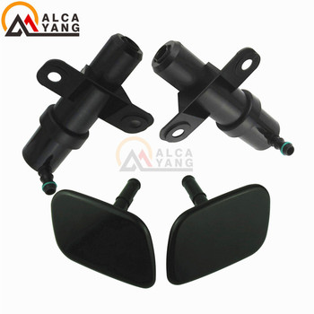 Front Headlight Washer Lift Cylinder Spray Nozzle Jet And Cover Cap For Hyundai Santa Fe MKII 2009-2012 . image