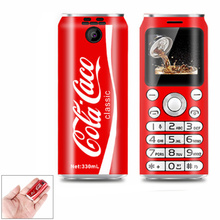 Mini Mobile Phones Cute Pocket SATREND K8 1 0 #8243 cola shape Telefone MP3 Bluetooth dialer Call recording Dual SiM small Cellphones cheap NoEnName_Null Not Detachable 128M Others Up To 120 Hours NONE ≤1MP Nonsupport Feature Phones Not Touch Screen Italian