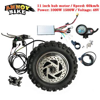 цена на High Speed LY 11 inch Hub Motor Kit 48V1000W1500W Electric Motorcycle Engine BuggyGearless TX Motor 60km/h Electric Kit Fat Tyre
