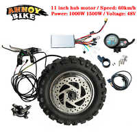 High Speed LY 11 inch Hub Motor Kit 48V1000W1500W Electric Motorcycle Engine BuggyGearless TX Motor 60km/h Electric Kit Fat Tyre