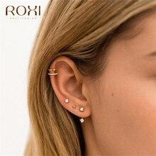 ROXI Fashion Small Ear Cuff Hollow U-shaped Clip on Earrings Climbers No Piercing Fake Cartilage 925 Sterling Silver Earrings