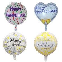 10 pçs 18 polegada redonda feliz aniversário balões de hélio da folha para a decoração do casamento da festa de aniversário suprimentos infláveis globos de ar
