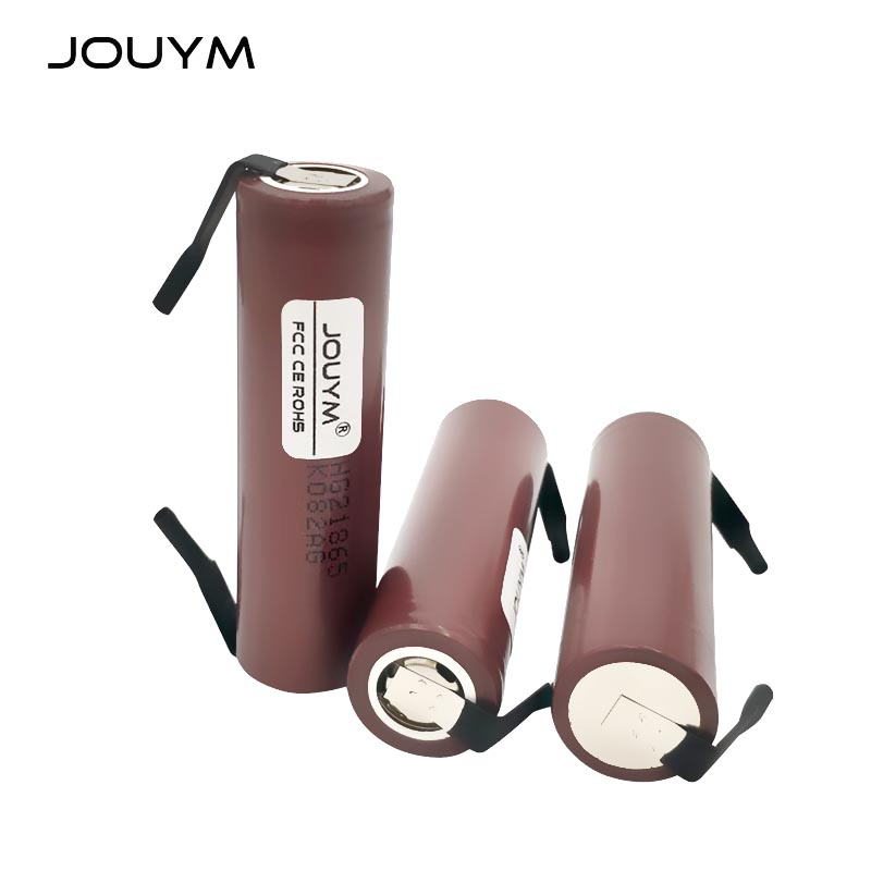 JOUYM DIY HG2 18650 Battery 3000mAh 18650HG2 3.6V 30A High Power Discharge Li-ion Rechargeable Battery for 18650 High-current