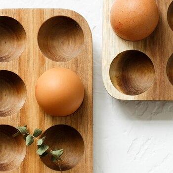 Multi-grid Egg Wood Tray Refrigerator Crisper Container Home Kitchen Desktop Exquisite Decorative Storage Trays Trinket Dishes 4