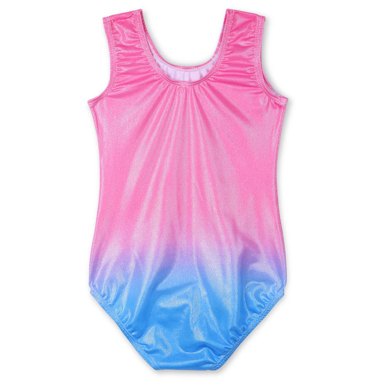 BAOHULU 3-12Y çocuk kız mayoları jimnastik kolsuz yenilik bale dans Bodysuits tankı gençler sporcular paten Leotard