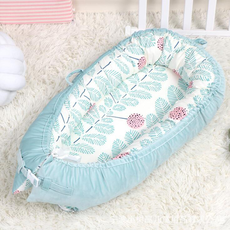 Переносная детская кроватка для путешествий, детская корзина для сна, хлопковое гнездо для новорожденных, многофункциональная Съемная кровать для кормления, BTN032