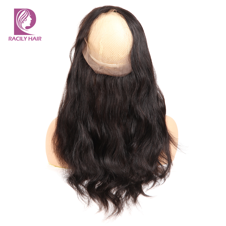 Racily Hair 360 Lace Frontal Closure Brazilian Hair Body Wave 360 Lace Fronta Remy Human Hair Free Part Lace Closure 10-22 Inch