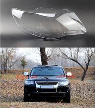 Dla Volkswagen VW Touareg 2007 2008 2009 2010 reflektor samochodowy pokrywa reflektor obiektyw Auto Shell cover tanie tanio DVFSLV Reflektory Headlamp Shell Polycarbonate (PC)