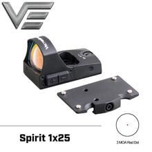 Векторная оптика Spirit 1x25 мини автоматический светильник с красной точкой Прицел мини пистолет вкл/выкл переключатель подходит для 21 мм Пикатинни Глок 17 19