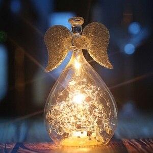 Nowy O. RoseLif Lucky Angel Glass ozdobne oświetlenie led walentynki dekoracje ślubne powodzenia prezent miłosny dekoracje na domowe przyjęcie