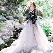 Черно белое винтажное свадебное платье 2021 кружевные платья