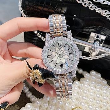 Luxury Brand Silver Diamond Woman Watch Ladies Stainless Steel Dress Watches Women Quartz Watches Dropshipping horloges vrouwen dress watches 8 z110 15dz110 page 3