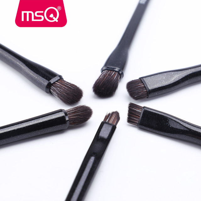 MSQ Eyeshadow Brush 6PCS Makeup Brushes Set Blending Eyebrow Lip Eye shadow Brush Synthetic Hair Cosmetic Make Up Tool Kits 3