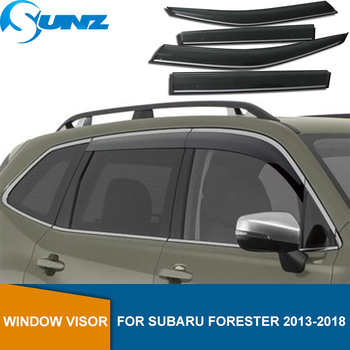 Side Window Deflector For Subaru Forester 2013 2014 2015 2016 2017 2018 Smoke Window Visor Vent Shades Rain Deflector Guard SUNZ window visor vent shades sun rain guard for toyota prado fj120 2003 2009