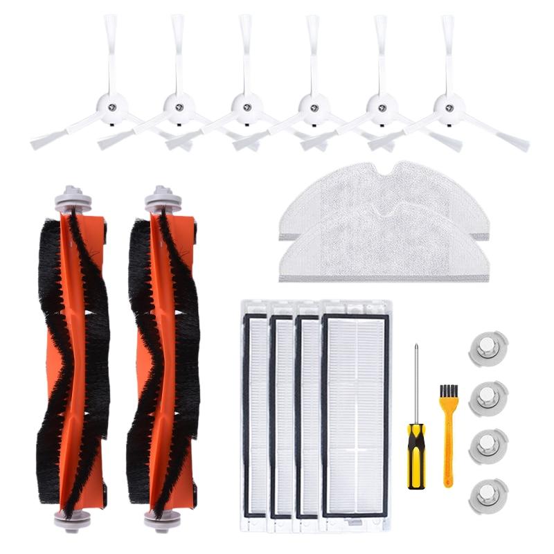 20PCS Roborock Robot Vacuum Cleaner Accessories Parts Main Brush Side Brush Water Tank Filter Comb Screw Mop Cloth