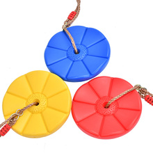 Children Swing Disc Toy Seat Kids Swing Round Rope Swings Outdoor Playground Hanging Garden Play Entertainment Activity