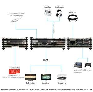 Image 4 - Raspberry PI 3 Model B + плюс аркадная консоль Retropie Full DIY Kit 128 ГБ 18000 + игры по индивидуальному заказу Retropie Emulation Station ES
