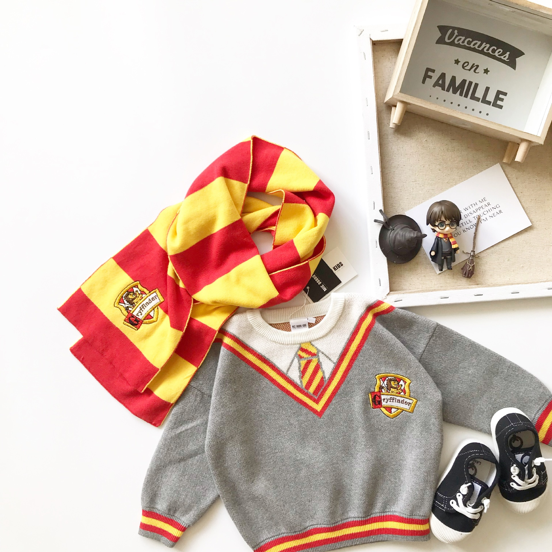 Autumn and Winter New Boys and Girls' Children's Cos Clothes Wizard Sweater Kids Sweaters 4