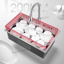 Wash-Basin Sink Bowl Under-The-Table Kitchen Stainless-Steel Household Single-Tank