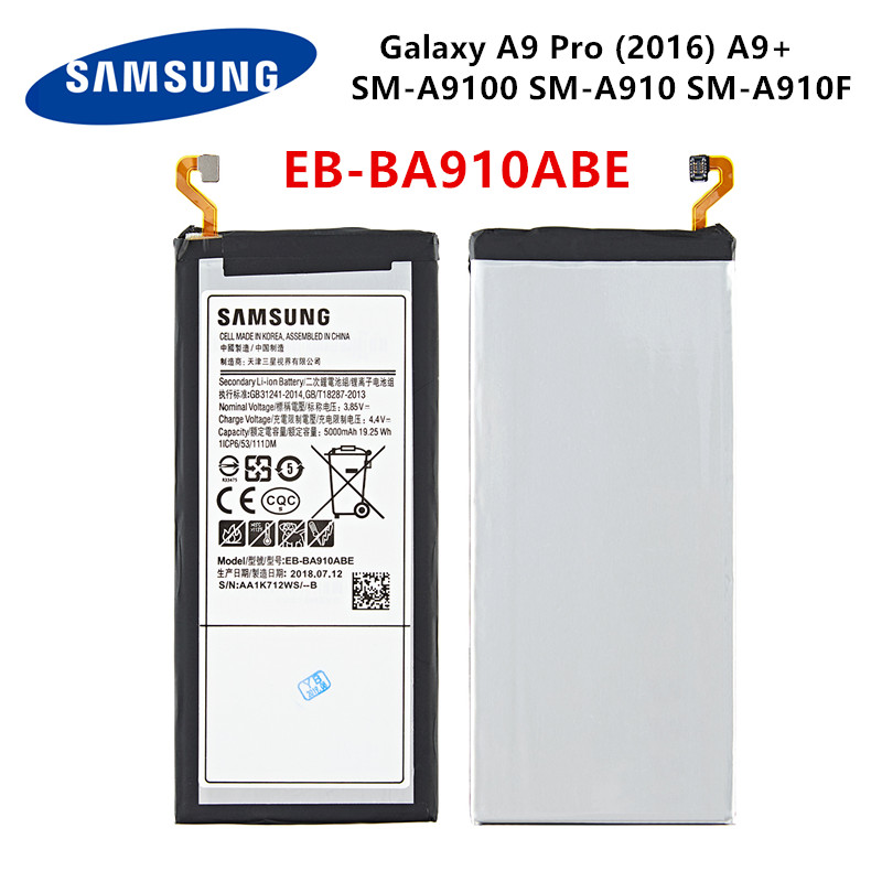 SAMSUNG Orginal EB-BA910ABE 5000mAh Battery For Samsung Galaxy A9 Pro (2016) A9+ SM-A9100 SM-A910 SM-A910F SM-A910DS