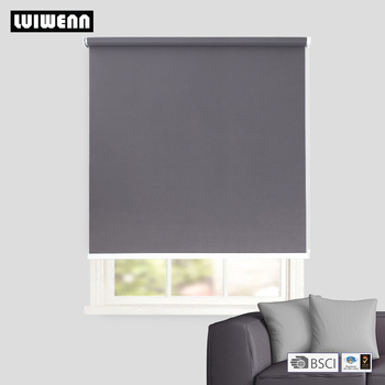 LUIWENN 100% blackout sunblock shading roller blinds with water drop bottom bar customized size and many colour available