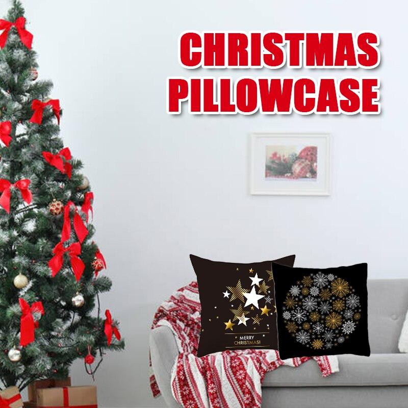 Рождественское украшение наволочка чехол подушка декоративная