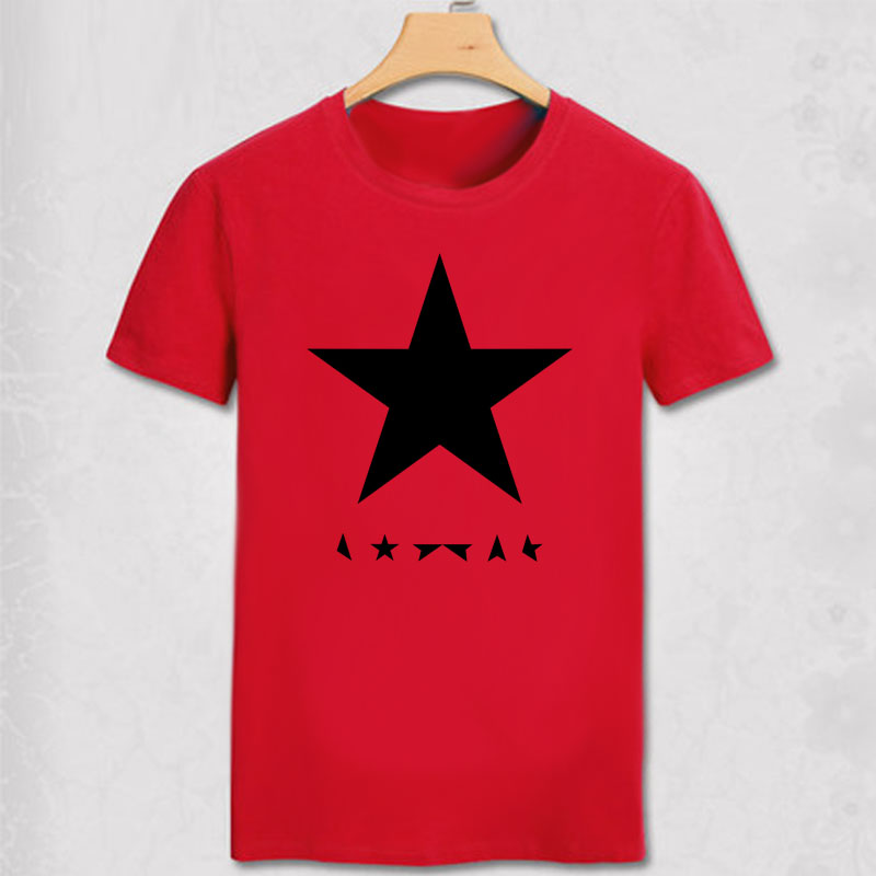 Футболка с Дэвидом Боуи-черная звезда, футболка с Дэвидом Боуи, черная звезда, черная звезда, праздничная рубашка с музыкальной поп-звездой, ...