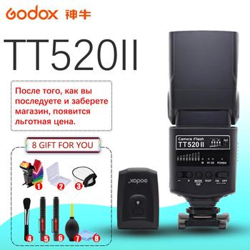 Godox TT520 II Flash TT520II with Build-in 433MHz Wireless Signal +Color Filter Kit for Canon Nikon Pentax Olympus DSLR Cameras godox ad600b 600w ttl all in one outdoor studio flash with 2 4g wireless x1 system build in 8700mah li on battery bowens mount