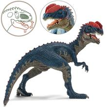 For Jurassic World 4inch Dilophosaurus Dinosaur Double Crested Lizard PVC Action Figure Model Building Blocks Toys For Kids Gift