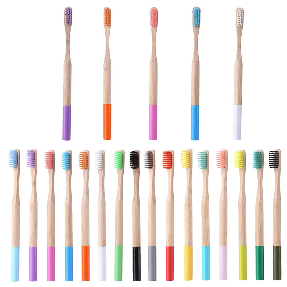 Image 2 - 16pcs bamboo toothbrush Multicolor Eco Friendly Soft Bristle Children Toothbrush Anti Bacterial Teeth Cleaning Brush Oral Care-in Toothbrushes from Beauty & Health