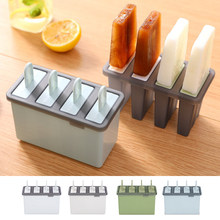 Home DIY Ice Pops Ice Creams Molds 4 Grids Lolly Maker With Handles Durable Ice Stick Mould DIY Ice Creams Mould 1/2pcs(China)