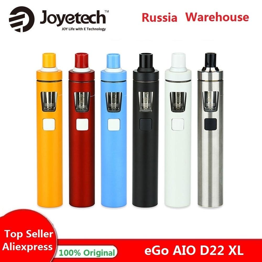 Original Joyetech EGo Vape Kit AIO D22 XL 2300mah Bateria 4ml Tanque All-in-one Vape Caneta E Cigarro Kit Vs Kit Ijust S/ego Aio