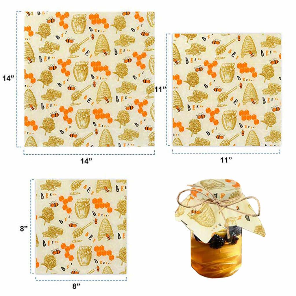 1 Set Stampato Cera D'api Avvolgere Gli Alimenti Riutilizzabile Eco-Friendly Coperchio Cibo Sostenibile di Tenuta Albero Resina Oli Vegetali di Stoccaggio Spuntino Avvolge # LR4