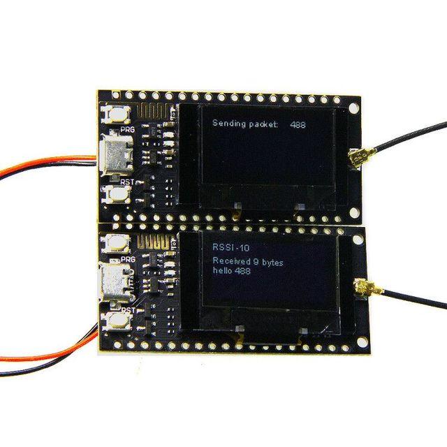 2 개/대 ttgo lora sx1278 esp32 0.96 oled 32mt 비트 (4 mb) arduino 용 433 mhz