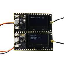 2 pçs/sets ttgo longos sx1278 esp32 0.96 oled, 32mt bit (4mb) 433mhz para arduino