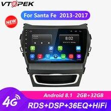 Vtopek 4G WIFI 9 Car Radio Player Android 2G+32G Touch Screen GPS Mirror-link Players for Hyundai Santa Fe 2013-2017 Autoradio
