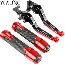 цена на Motorcycle Accessories Extendable Brake Clutch Lever Handlebar Hand Grips ends For Aprilia RS125 RS 125 2006 2007 2008 2009 2010