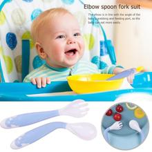 2Pcs Baby Pacifier Feeding Spoon Curved Spoon Children Tableware For Children Flatware Cutlery Spoon Infant Feeding Spoons