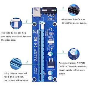 CHIPAL VER006 60CM PCIe PCI-E 1X zu 16X Riser Card Extender SATA zu 4Pin Power Cord USB 3,0 Daten kabel für BTC Miner Bitcoin