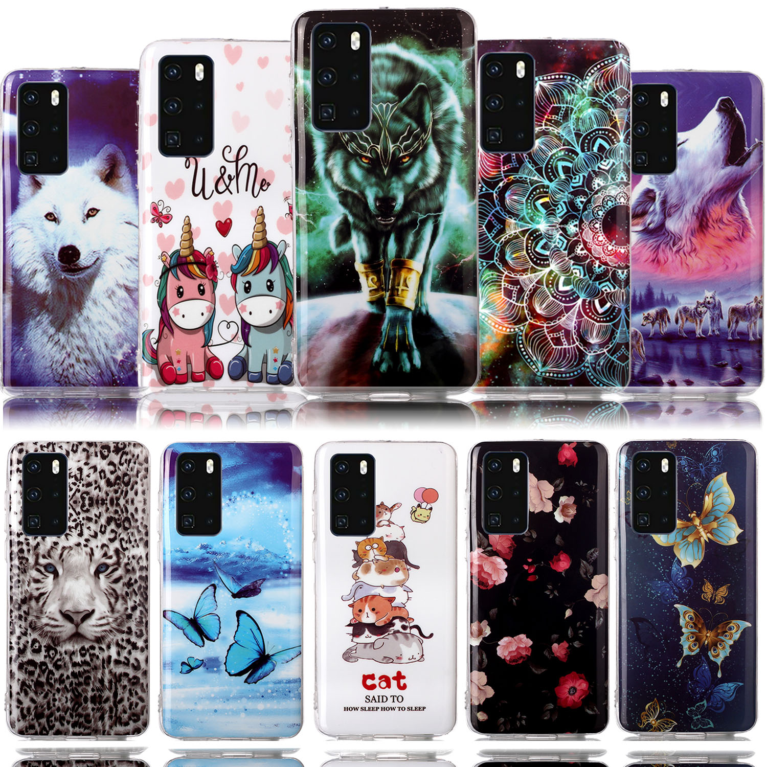 Rose Smartphone Cases For Huawei P40 Lite Soft Cover Huawei P30 Pro Lite P40 Nova 4E P20 Honor 8S 3E 8A Y6 <font><b>2019</b></font> Y5 <font><b>Y7</b></font> P Smart 10 image