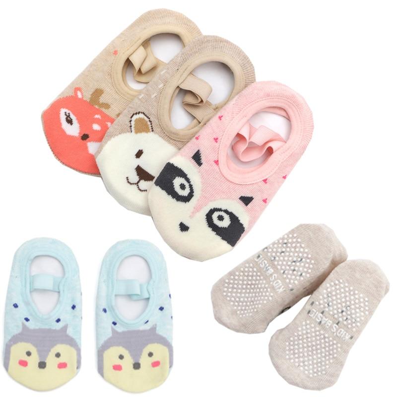 Fashion Baby Boys Girls Kids Cute Cartoon Anti Slip Ankle Socks Cotton Anti-slip Shoe-like Socks 1-4Y Soft Summer Floor Shoes