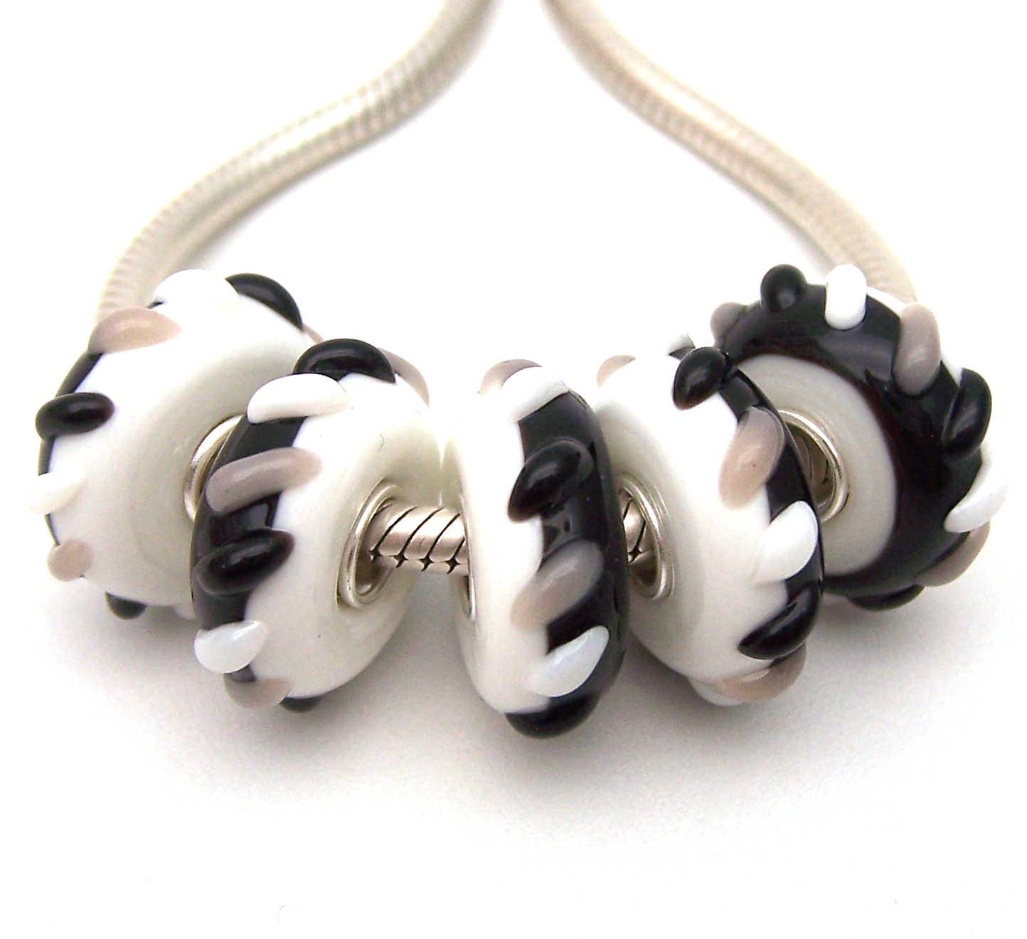 JGWGT 2227 5X 100% Autenticità S925 Sterling Silver Perle di Murano perle di Vetro Europeo Adatto Pendenti E Ciondoli Braccialetto di diy dei monili di Lampwork