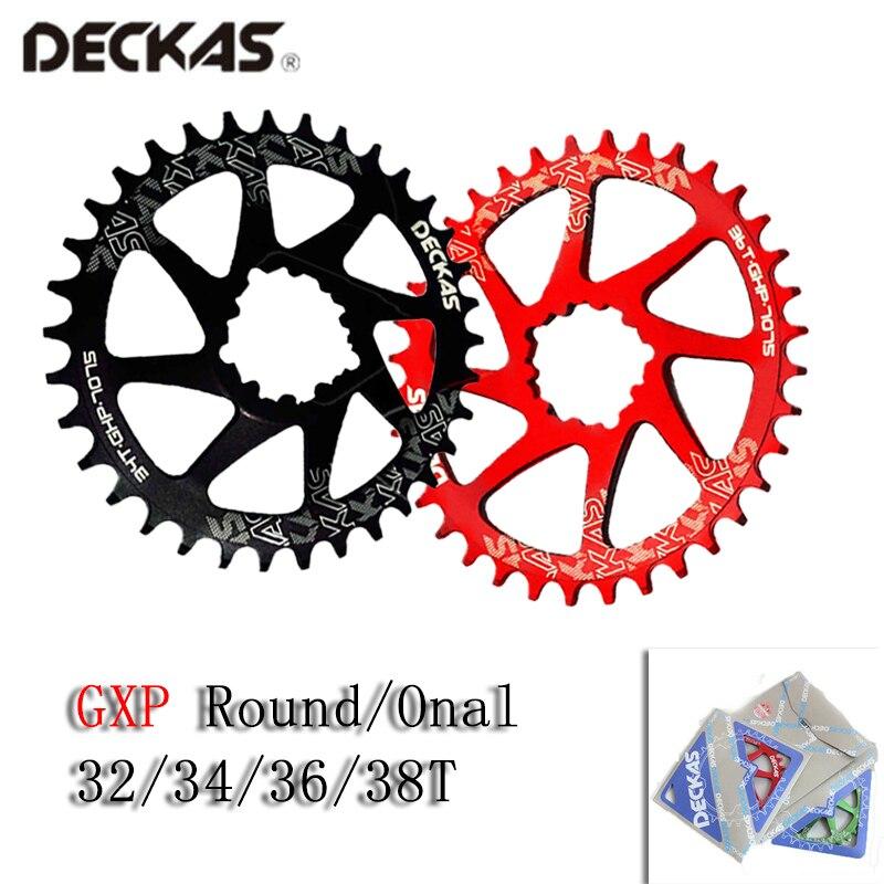 DECKAS Narrow Wide Round//Oval MTB Bike Chainring 32-38T SRAM GXP Chainwheel